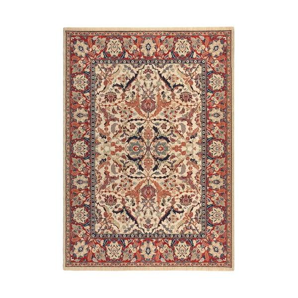 Vlnený koberec Ibai, 140x200 cm, béžový