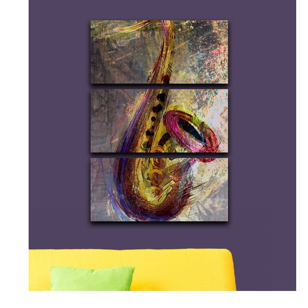 3-dielny obraz Saxofón