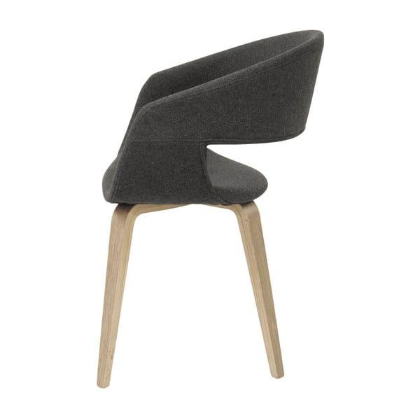 Tmavosivá jedálenská stolička Interstil Nova Nature Modena