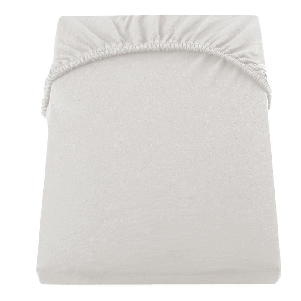 Krémová elastická bavlnená plachta DecoKing Amber Collection, 180 - 200 × 200 cm