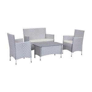 Sivo-biely set záhradného nábytku Safavieh Venice