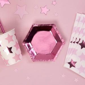 Sada 8 papierových tanierov v tvare šesťuholníku Neviti Small Hexagonal Plate