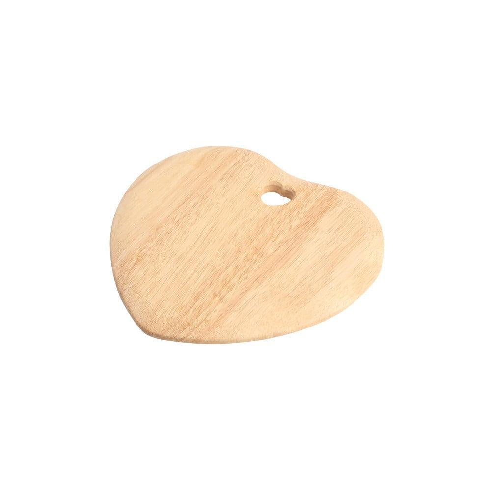 Doska na krájanie z kaučukovníka T&G Woodware Colonial Home Heart
