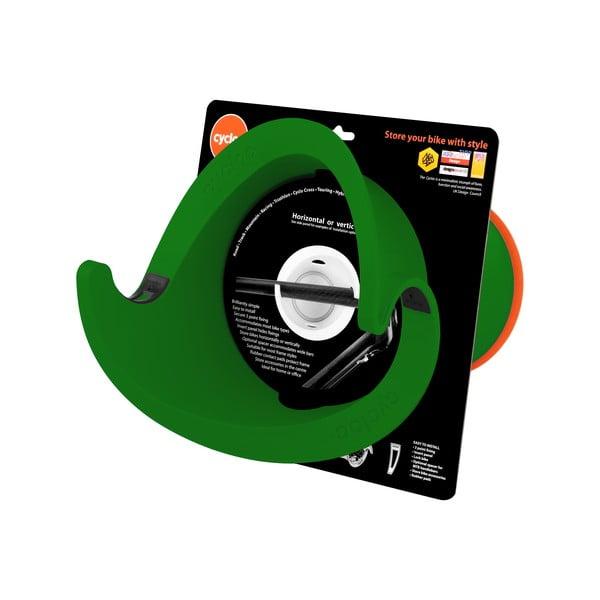 Dizajnový držiak na bicykel Solo, zelený