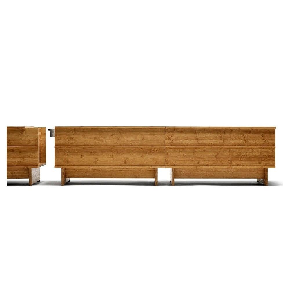 Oceľový spojovací diel k lavici z bambusu Moso We Do Wood Correlations
