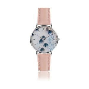 Dámske hodinky s remienkom ružovozlatej farby z pravej kože Emily Westwood Feather