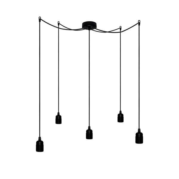 Päť závesných káblov Uno, čierna/čierna