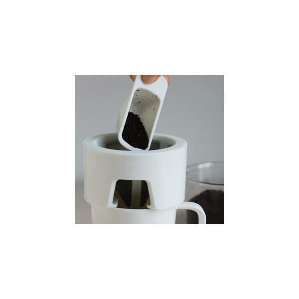 Hrnček na prípravu kávy Column, biely