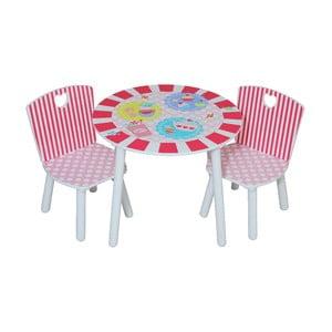 Detský stolík a 2 stoličky Patisserie
