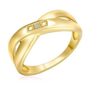 Pozlátený prsteň s pravým diamantom Tess Diamonds Rosalind, veľ. 58