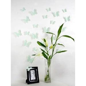 Sada 12 zelených 3D samolepiek Ambiance  Butterflies