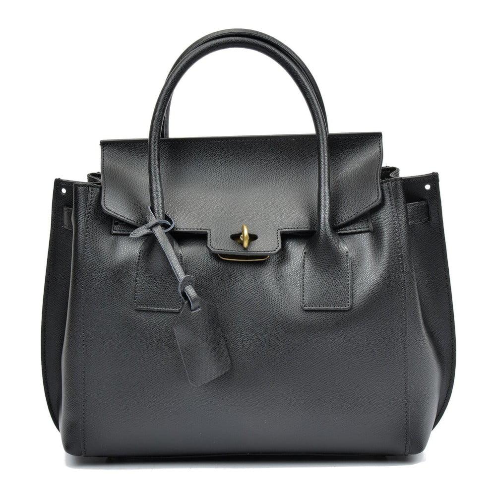 Čierna kožená kabelka Luisa Vannini Angela