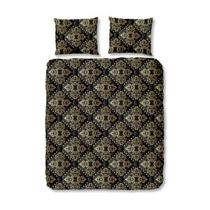 Čierne obliečky na jednolôžko z bavlny Muller Textiels Bibi, 140×200 cm