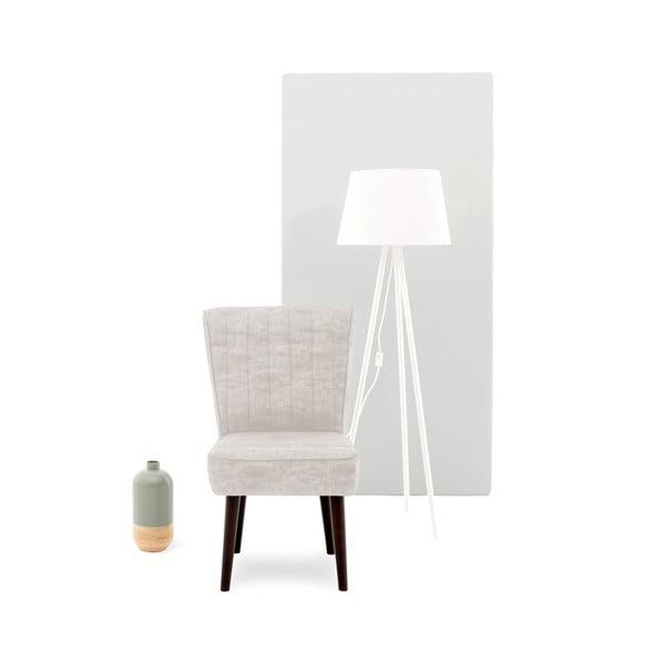Béžová čalúnená stolička Vivonita Leila