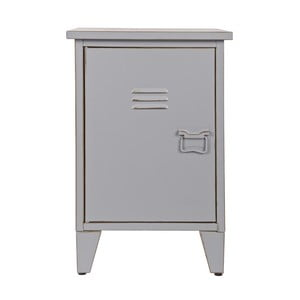 Nočný stolík Max, sivý, ľavostranné otváranie