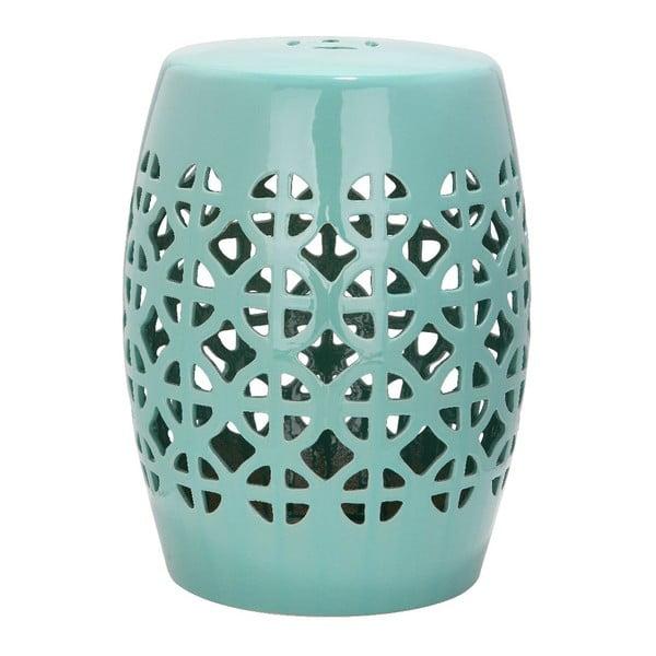Tyrkysový keramický stolík Safavieh Ravello