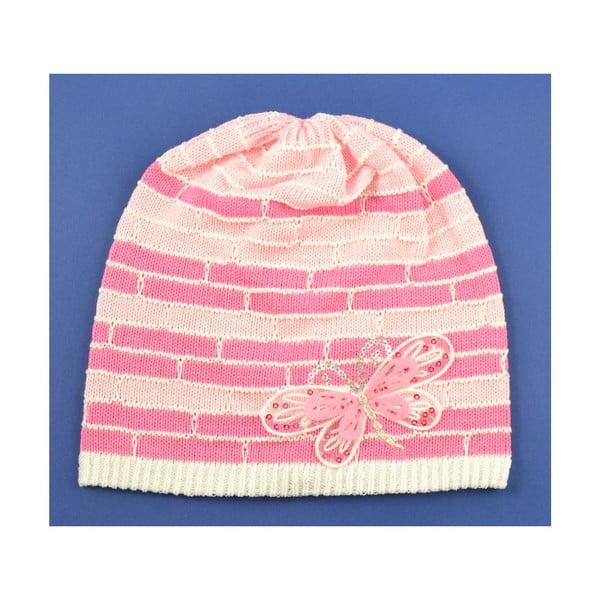 Dievčenská čapica Cegiel, ružová
