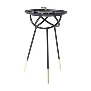 Čierny odkladací stolík Kare Design Atomo, ⌀41cm