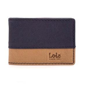 Kožená peňaženka Lois Blue Block, 10x7 cm