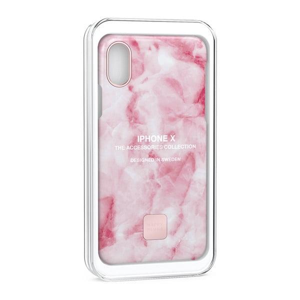 Ružovo-biely kryt na telefón pre iPhone X a XS Happy Plugs Slim