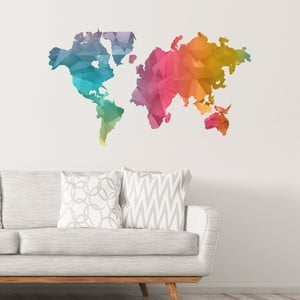 Samolepka mapa sveta Ambiance Colour