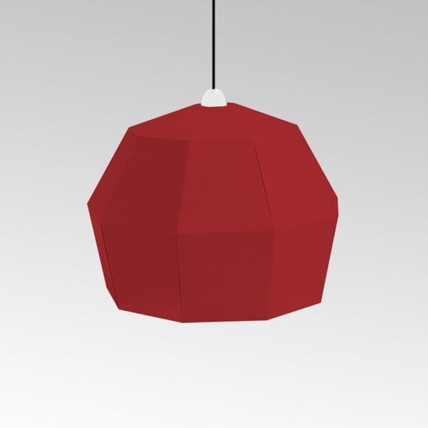 Kartónové svietidlo Uno Fantasia A Red, s čiernym káblom
