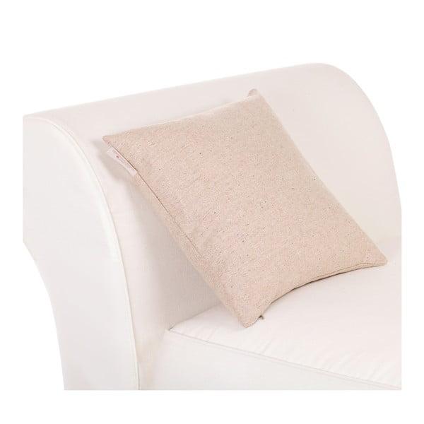 Vlnený vankúš Tweed 60x60 cm, krémový