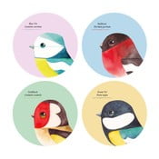 Sada 4 podložiek pod poháre Gift Republic Birds