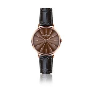 Dámske hodinky s čiernym remienkom z pravej kože Frederic Graff Rose Monte Rosa Croco Black Leather