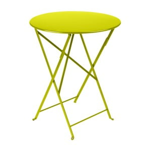 Svetlozelený záhradný stolík Fermob Bistro, ⌀ 60 cm