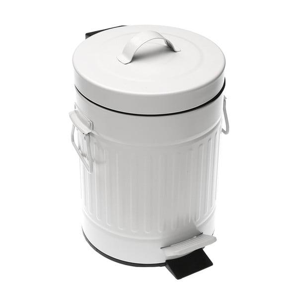 Biely odpadkový kôš Versa Metal Bin, 3 l