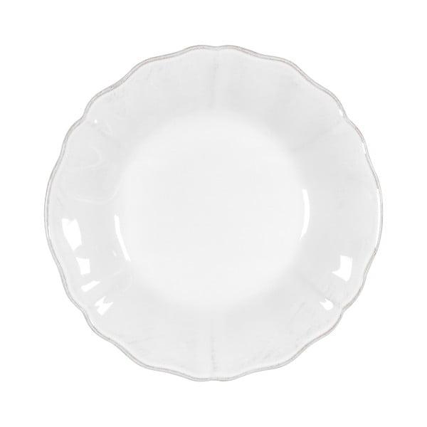 Biely kameninový polievkový tanier Costa Nova Alentejo, ⌀ 24 cm