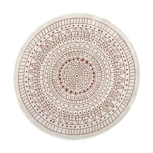 Červený vzorovaný obojstranný koberec Bougari Porto, Ø 140 cm