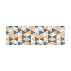 Žlto vzorovaný behúň White Label Geo, 150×50 cm