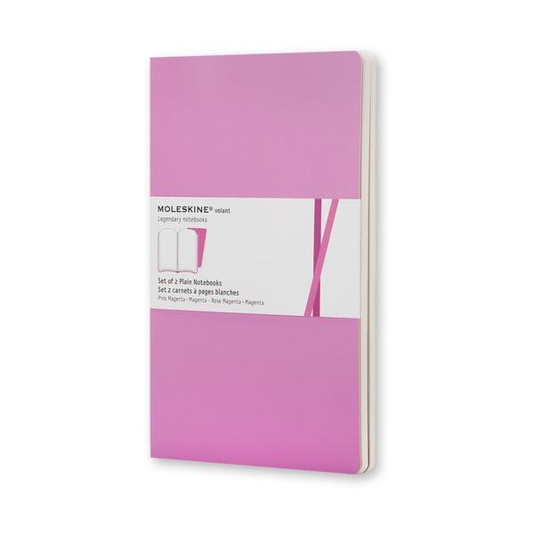 Sada 2 notesov Moleskine Volant 13x21 cm, ružová+ čisté stránky