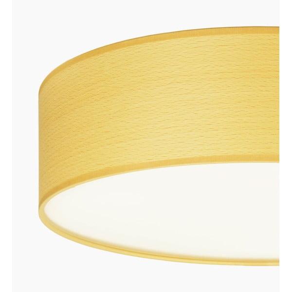 Stropné svietidlo z prírodnej dyhy vofarbe bieleného buka Sotto Luce TSURI, Ø30 cm