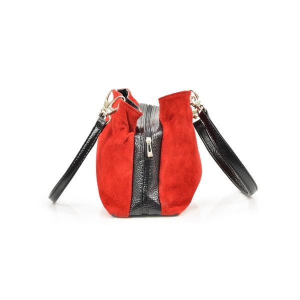 Kožená kabelka Gigi, červená
