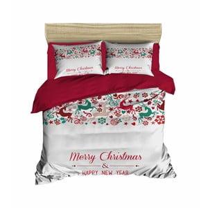 Vianočné obliečky na dvojlôžko s plachtou Elias, 200×220 cm