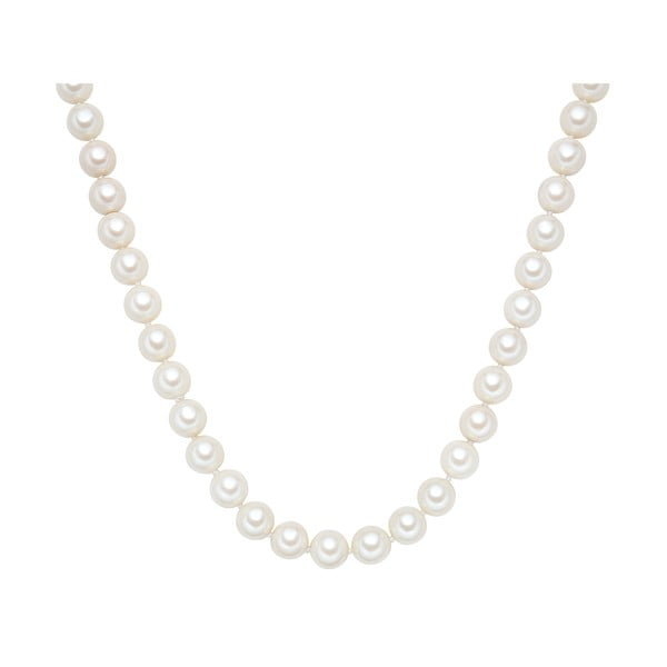 Náhrdelník s bielymi perlami ⌀ 12 mm Perldesse Muschel, dĺžka 90 cm