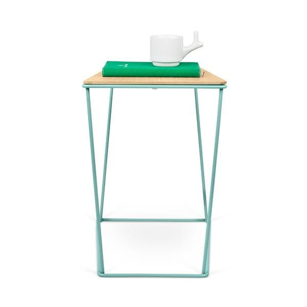 Odkladací stolík so zelenými nohami TemaHome Opal