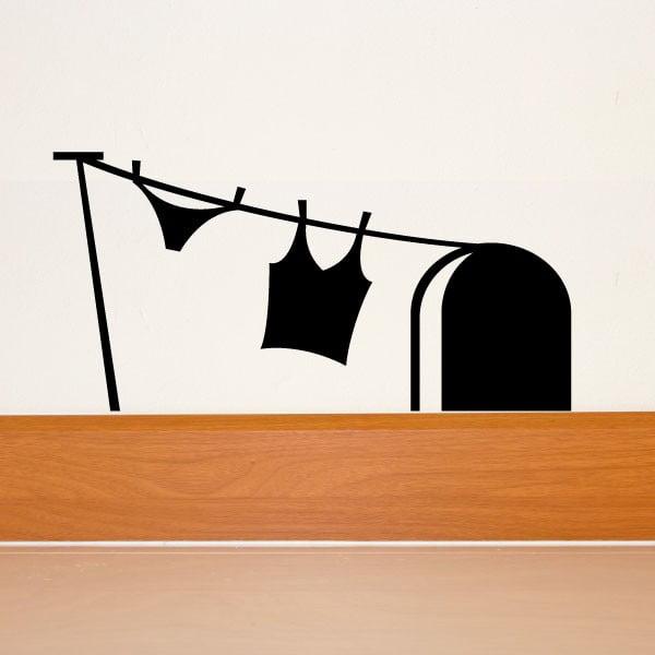 Samolepka Ambiance Mouse Hole And Laundry