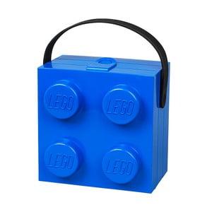 Úložný box LEGO® s rukoväťou, modrý