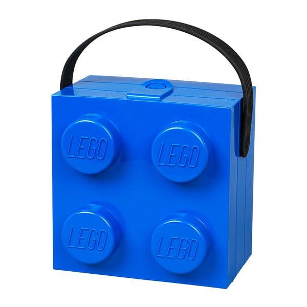Modrý úložný box LEGO® s rukoväťou