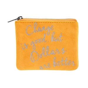 Žltá listová kabelka do ruky Statement Pieces Love, 10,5 x 9 cm