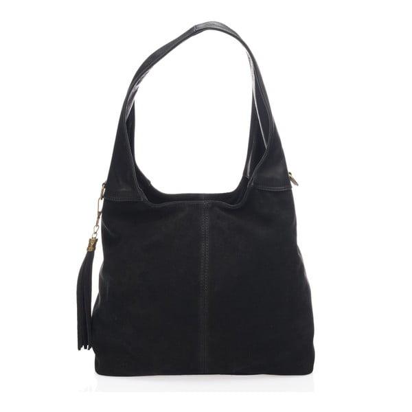 Čierna kožená kabelka Lisa Minardi Eleanora
