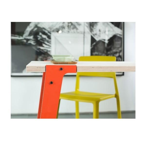 Oranžový jedálenský/pracovný stôl rform Switch, doska 122x63cm