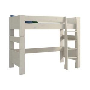 Biela detská poschodová posteľ z borovicového dreva Steens For Kids, výška 164 cm