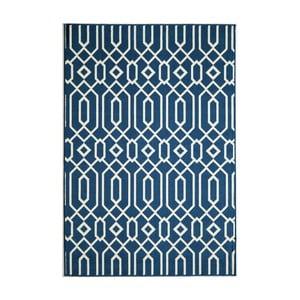 Tmavomodrý koberec Nourison Baja Talara Clara, 290×201cm