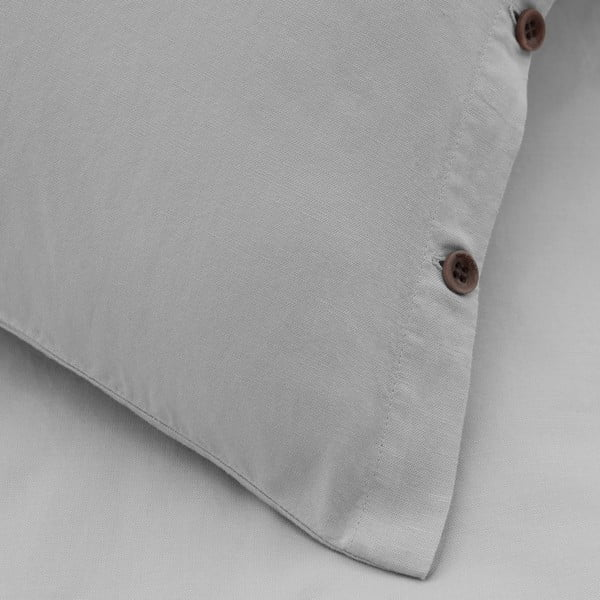 Obliečky Marc O'Polo Washed, 135x200 cm, stříbrné