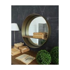 Okrúhle zrkadlo v kovovom ráme Orchidea Milano, ø 62 cm